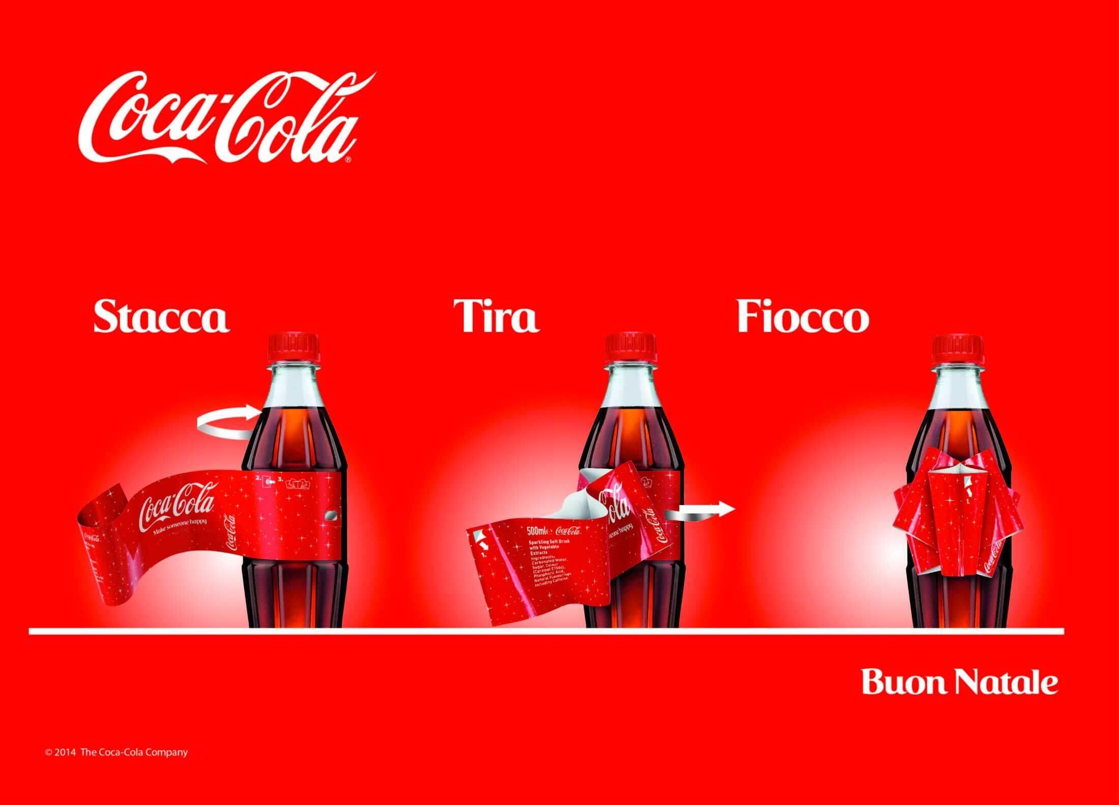 A Natale #FaiFeliceQualcuno con il Fiocco Magico Coca-Cola